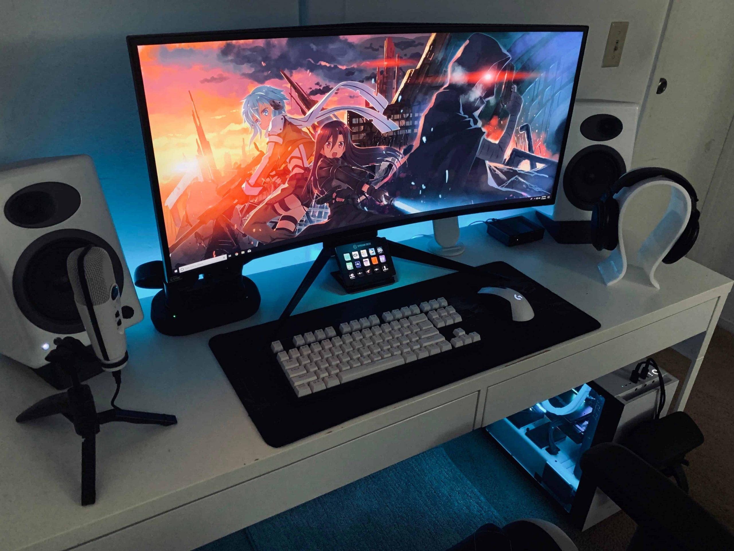 Monitor da gaming in primo piano