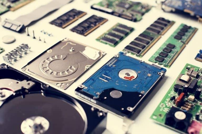 Hard disk montato