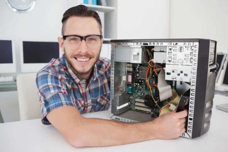 Computer fisso smontato