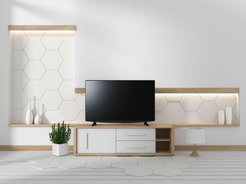 una tv in un soggiorno moderno