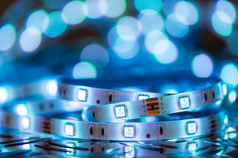 Luci LED azzurre