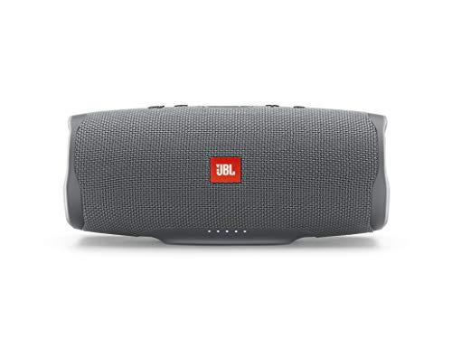 JBL Charge 4 Speaker Bluetooth Portatile, Cassa Altoparlante Bluetooth Impermeabile IPX7, Con Microfono, Porta USB, JBL Connect+ e Bass Radiator, fino a 20 Ore di Autonomia, Grigio
