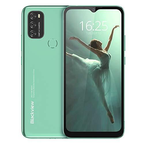 Smartphone Offerta del Giorno 4G, Blackview A70 Android 11 Cellulari Offerte con 6.51 Pollici HD+ Schermo,5380mAh Batteria,Octa-core 3GB/32GB,13MP Tripla Fotocamera Dual SIM Telefono Cellulare-Verde