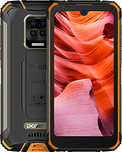 DOOGEE S59 Pro Rugged Smartphone 2021, 10050mAh Batteria, IP68 Cellulare Antiurto, 4GB + 128GB, 2W Powerful Speaker, 5,71 Pollici HD+, 16MP Quad Fotocamera, 4G Dual SIM Android 10 Telefono Robusto