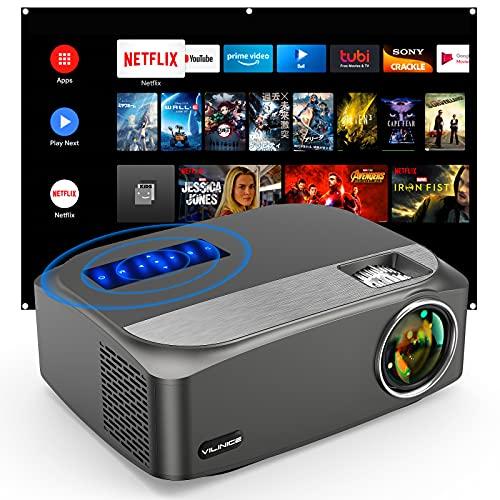 Vili Nice Native 1080P Proiettore Full HD Supporta 4K LED Outdoor Proiettore Home Cinema 300