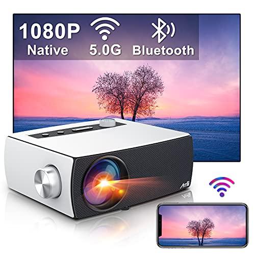 Proiettore Wifi Bluetooth, Artlii Enjoy3 Proiettore Full HD 1080P Nativo Supporta 4K, Dolby AC3, 2.4G/5G WiFi, Proiettore Portatile 300
