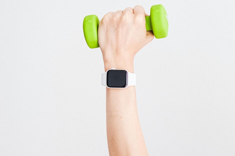 ejercicio con reloj de xiaomi