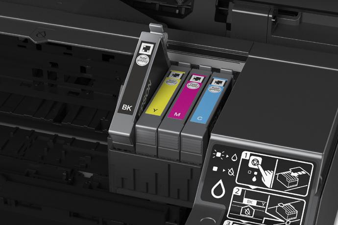 Imagem do interior de uma impressora Epson.