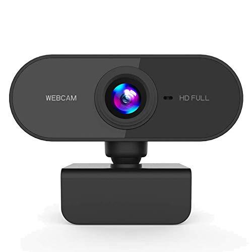 Bainuojia HD 1080P Webcam con Microfono, Webcam PC Portatile Desktop USB 2.0 Videocamera per Videochiamate, Studio, Conferenza, Registrazione, Gioca a Giochi e Lavoro a Casa