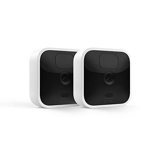 Blink Indoor, Videocamera di sicurezza in HD, senza fili, batteria autonomia 2 anni, rilevazione movimento, comunicazione bidirezionale   2 videocamere