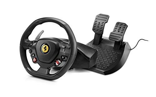 Thrustmaster T80 Ferrari 488 GTB Edition, Volante dotato di resistenza lineare realistica, Compatibili con PS4/PC, Funziona con giochi PS5