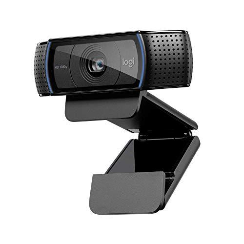 Logitech C920 HD Pro Webcam, Videochiamata Full HD 1080p/30fps, Audio Stereo Chiaro, Correzione Luce HD, Funziona con Skype, Zoom, FaceTime, Hangouts, PC/Mac/Laptop/Tablet/Chromebook - Nero