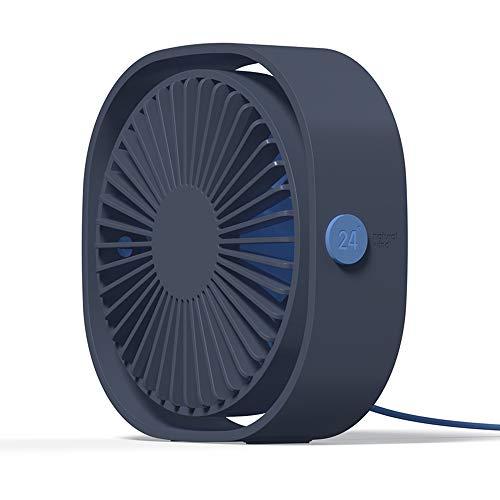 Simpeak Ventilatore USB, Mini Ventilatore da Tavolo Rotazione di 360° Portatile Fan con 3 Velocità per Ufficio Casa (Blu)