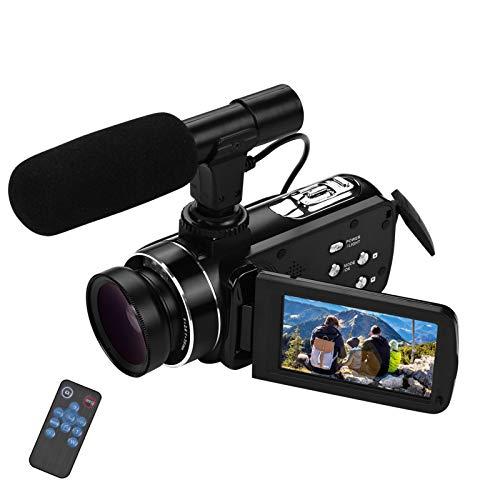 Video camera HD, Andoer 4K Ultra HD Palmare DV Videocamera professionale, 18X Digital Zoom Camera, 3.0