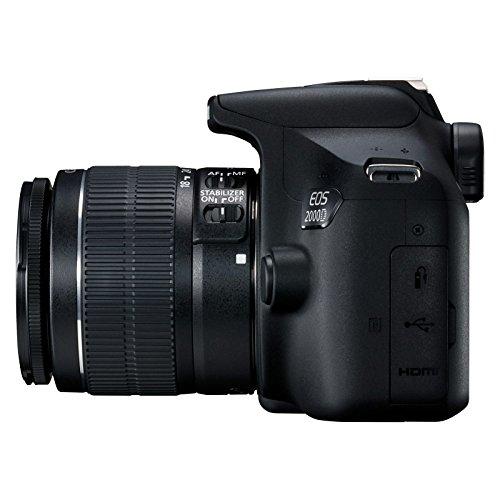 Canon EOS 2000D + EF-S 18 - 55 mm IS II Fotocamera Reflex, Sensore APS-C da 24.1 megapixe, Nero