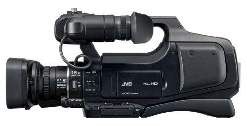 JVC GY-HM70E - Telecamera con zoom 10x, colore: Nero