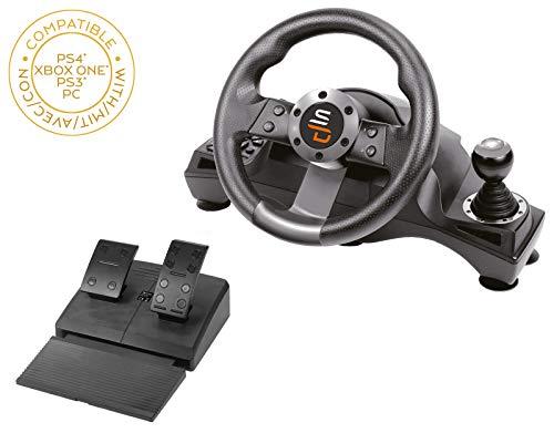 Superdrive - Volante Racing Drive Pro GS700 con leva del cambio, pedali e vibrazioni per PS4 - Xbox One - PC e PS3