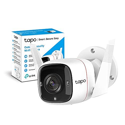 TP-Link Tapo C310 Telecamera Wi-Fi Esterno FHD 1296P, Telecamera IP di Sorveglianza, Notifiche in Tempo Reale, Visione Notturna fino 30m, Impermeabile IP66, 2 Vie Audio, Compatibile con Alexa