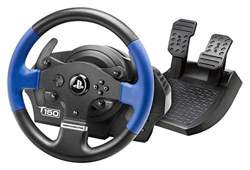 Thrustmaster T150 RS (Volante inkl. 2-Pedali, Force Feedback, 270° - 1080°, PS4 / PS3 / PC). Funziona con giochi PS5