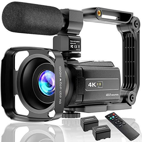 Videocamera 4K UHD 48MP 60FPS Wi-Fi IR Visione Notturna 16X Zoom Digitale Registratore 3.0