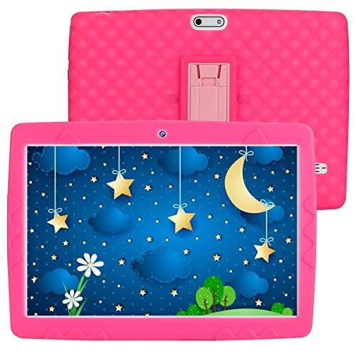 SANNUO Tablet per bambini 10 pollici Android 10.0 tablet, RAM 3GB ROM 32GB,Supporta 3G Dual SIM/wifi/GPS, Batteria 5000mAh,Preinstallato con Kid-Proof Custodia