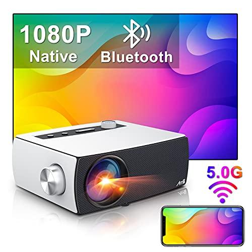 Proiettore Wifi Bluetooth, Artlii Enjoy3 Proiettore Full HD 7500 Lumens, 1080P Nativo Supporta 4K, Dolby AC3, 2.4G/5G WiFi, Proiettore Portatile 300