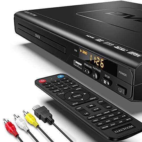 ELECTCOM Lettore DVD, Lettore DVD per Televisore, Lettore DVD per TV, Lettore DVD HDMI, Lettore DVD Region Free