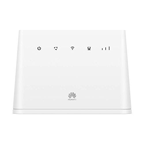 Huawei 4G Router Wireless LTE 150 MBps, WiFi Mobile, con 1 Porta GE LAN/WAN, WiFi da 300 MBps di Velocità, Bianco