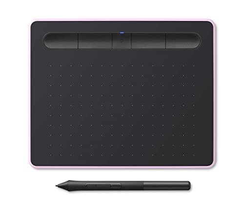 Tavoletta con penna Wacom Intuos S, tavoletta grafica per pittura, schizzi e fotoritocco con 5 download di software creativo, rosa lampone – ideale per il lavoro da casa e per l'apprendimento remoto