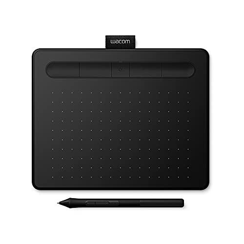 Wacom Intuos Medium Tavoletta Grafica Bluetooth - Tavoletta Portatile per Dipingere, Disegnare ed Editare Foto con penna sensibile alla pressione nero - Adatta per l'Home Office e l'E-Learning