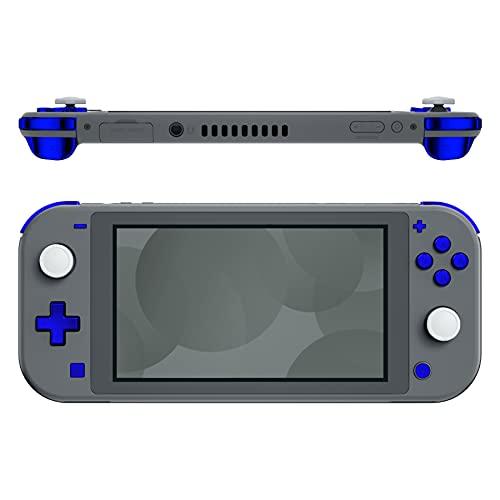 eXtremeRate Tasti Ricambio per Nintendo Switch Lite Pulsanti ABXY Home Cattura Più Meno Dpad L R ZL ZR Trigger Grilletti con Cacciaviti(Blu Cromo)