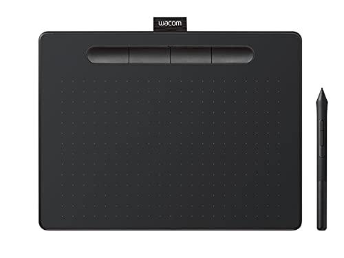 Wacom Intuos Small Tavoletta Grafica Bluetooth - Tavoletta Portatile per Dipingere, Disegnare ed Editare Foto con penna sensibile alla pressione nero - Adatta per l'Home Office e l'E-Learning