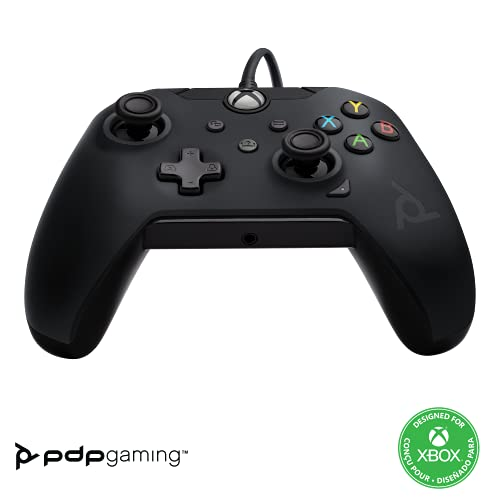 PDP Controller con Cavo Xbox Series X│S, Nero (Raven Black)