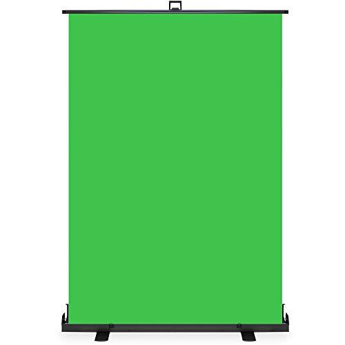 KHOMO GEAR Sfondo Verde Schermo Fondale Chiave Cromatica Pro per Fotografia e Video Studio Regolabile in Altezza e Portatile 138 x 208 cm - Verde