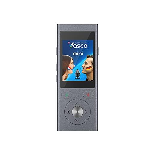 Vasco Mini 2: Traduttore Vocale - Traduce 50 Lingue, Traduttore Bidirezionale, traduce due lingue alla volta - INTERNET GRATUITO - Funzionamento Facile e Intuitivo