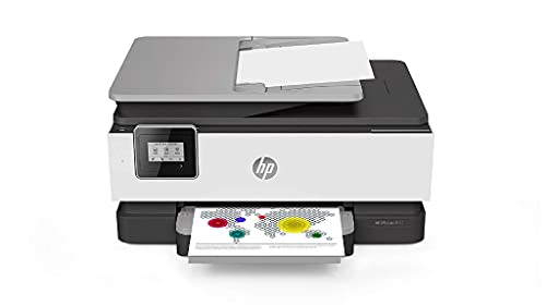 HP OfficeJet 8012 1KR71B Stampante Multifunzione A4 a Getto di Inchiostro, Stampa, Scansiona, Fotocopia, Fax, Wifi, HP Smart, Stampa fronte/retro automatica, 2 Mesi di Instant Ink Inclusi, Grigio