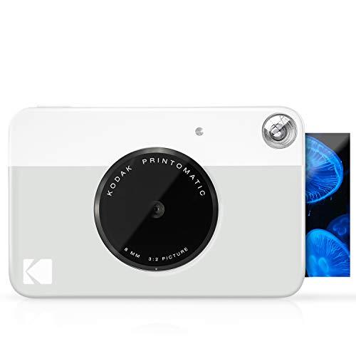 Kodak Printomatic - Fotocamera di Stampa Istantanea, Stampa su Zink 5 x 7.6 cm, Carta Appiccicosa, grigio