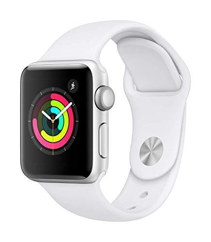 Apple Watch Series 3 38mm (GPS) - Cassa In Alluminio Color Argento Con Bianco Cinturino Sport (Ricondizionato)