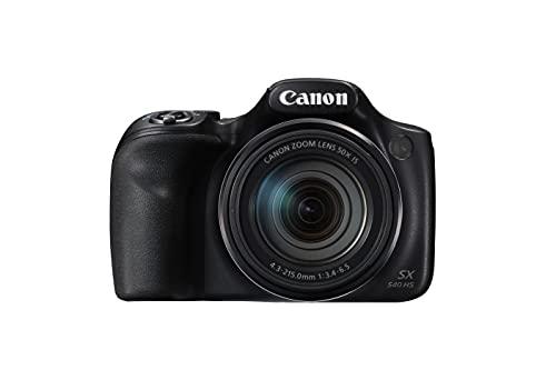 Canon PowerShot SX540 HS Fotocamera Bridge Digitale, 20.3 Megapixel, Nero/Antracite
