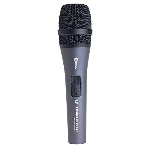 Sennheiser E845S Microfono Dinamico supercardioide per voce con interruttore ON/OFF + supporto + astuccio, Silver