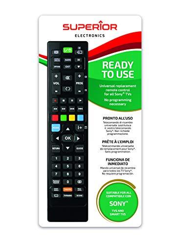 Telecomando universale per tutti i televisori SONY pronto all'uso non richiede programmazione.