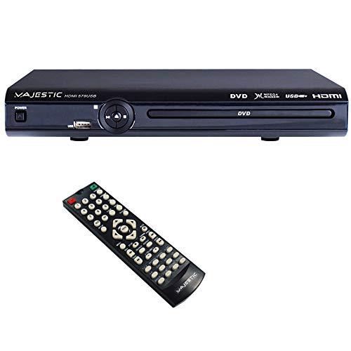 Majestic HDMI-579, Lettore DVD-MPEG 4 con uscita HDMI e ingresso USB, Nero