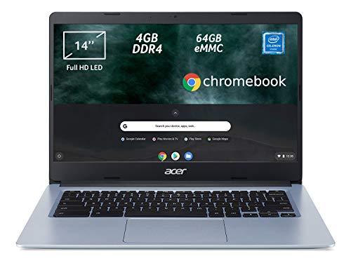 Acer Chromebook 314 CB314-1H-C2W1 Notebook, PC Portatile, Processore Intel Celeron N4000, Ram 4GB DDR4, eMMC 64 GB, Display 14