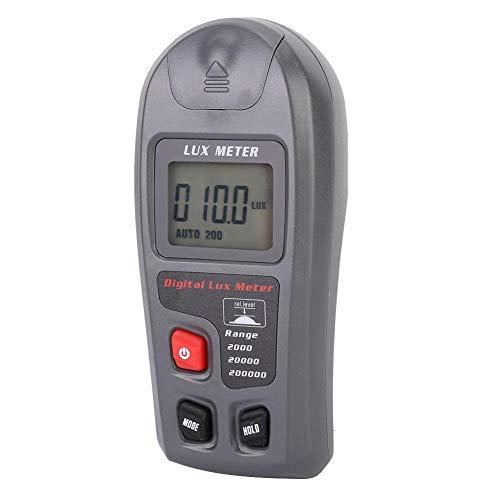 TOPINCN Misuratore di Luce, Digitale Luxmetro Elettronico Illuminatore Portatile Fotometro Accurato Display LCD con Portata Fino a 200.000