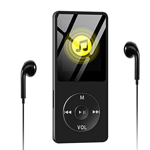 Lettore MP3, Wodgreat Lettore MP3 Musica 8GB Lettore MP4 Portatile HiFi Lossless Sound, Lettore Multifunzione con radio FM/Registratore Vocale/Video/E-Book, Suppota TF Fino a 128G (Cuffie Incluse)