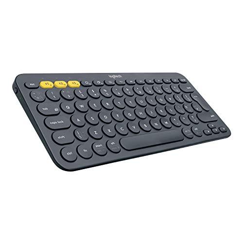 Logitech K380 Tastiera Bluetooth Multidispositivo per Windows, Apple iOS, Bluetooth Wireless, Design Compatto, PC/Mac/Laptop/Smartphone/Tablet, Layout Italiano QWERTY, Nero