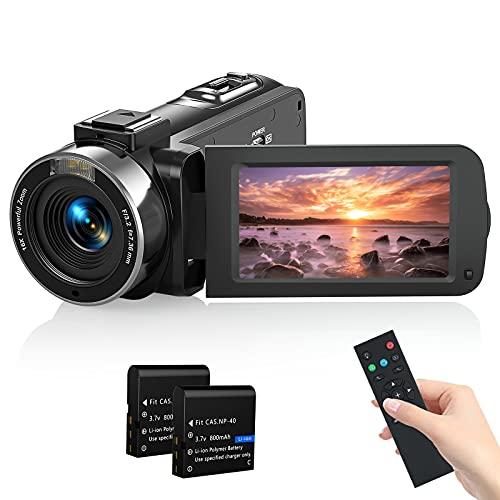Videocamera Digitales, 1080P 30FPS 36MP Camcorder per Youtube Vlogging, Streaming Video, Fotocamera con IR Visione Notturna, 3.0