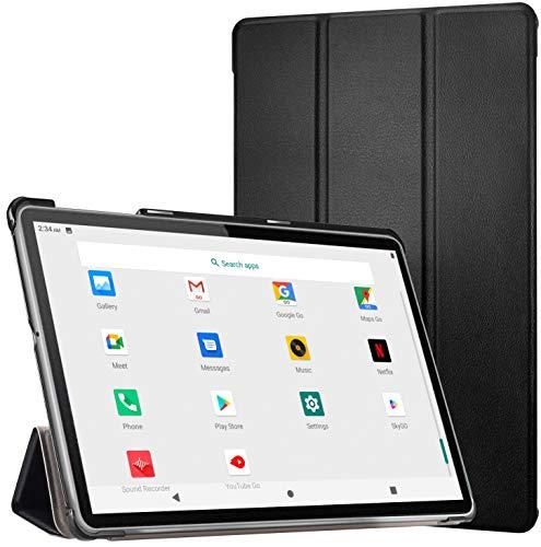 Tablet 10 Pollici -Dual Sim Carta+ WIFI con 10.1'' IPS, Android 10, 4GB RAM + 64GB ROM, adatto alla Meet/Bluetooth/GPS/OTG,Suono Stereo con Doppio Altoparlante – Nero