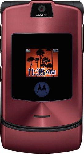 Motorola RAZR V3i rosso – Light – originale, senza marchio, senza blocco SIM