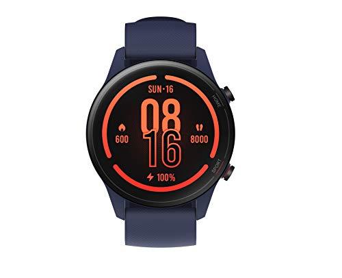 Xiaomi Mi Watch, Orologio Smart, Display AMOLED HD 1.39'', Fino a 16 giorni di autonomia, GPS integrato, 117 modalità fitness, BLU NAVY, Versione italiana